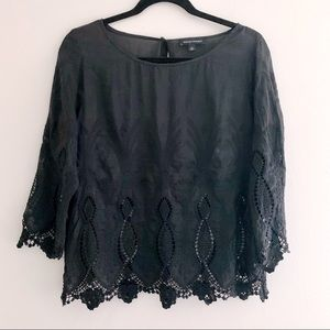Banana Republic emboidered peasant style blouse